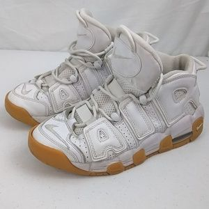 Nike Air More Uptempo GS Sz 6Y White